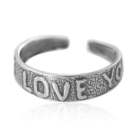TR-1130 I Love You Toe Ring | Teeda