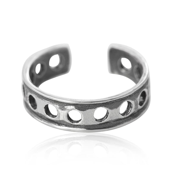 TR-1180 Holey Toe Ring | Teeda