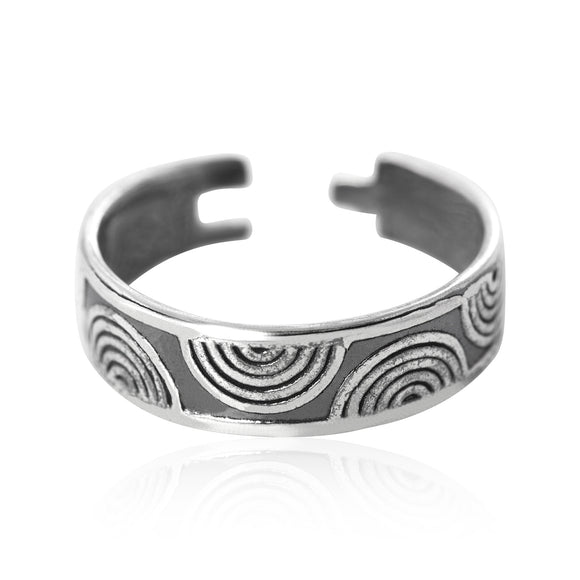 TR-1190 Ripple Waves Toe Ring | Teeda