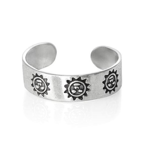 TR-1330 Happy Sun Toe Ring | Teeda