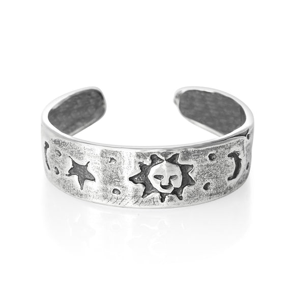 TR-1340 Star Moon Happy Sun Toe Ring | Teeda