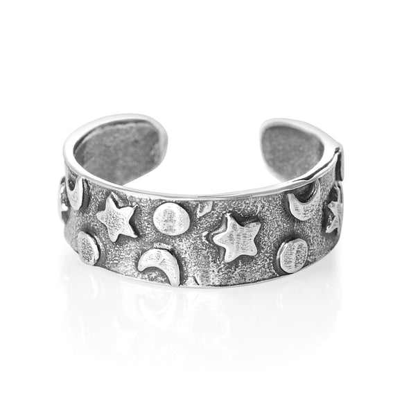 TR-1370 Star Moon Sun Toe Ring | Teeda