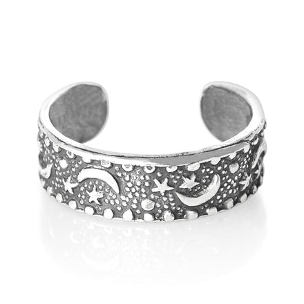 TR-1400 Moon n Stars Toe Ring | Teeda