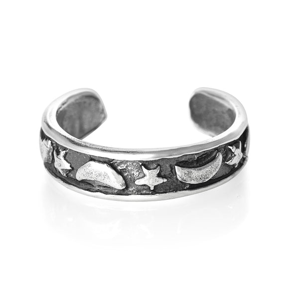 TR-1410 Moon Star Toe Ring | Teeda