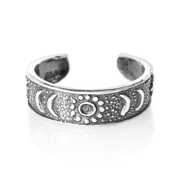 TR-1420 Sun n Moon Toe Ring | Teeda