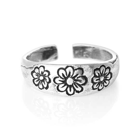 TR-1560 Flower Toe Ring | Teeda