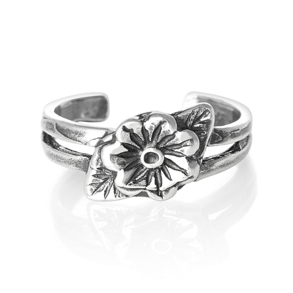 TR-1570 Flower Toe Ring | Teeda
