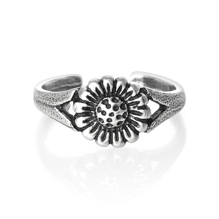 TR-1590 Flower Toe Ring | Teeda