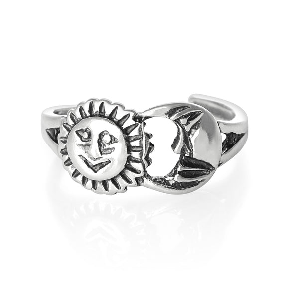 TR-1610 Sun n Moon Toe Ring | Teeda