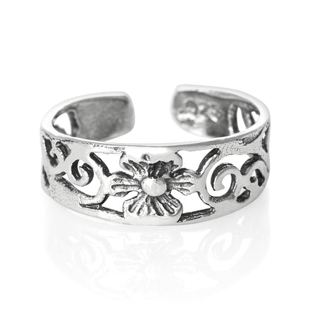 TR-1620 Flower Toe Ring | Teeda