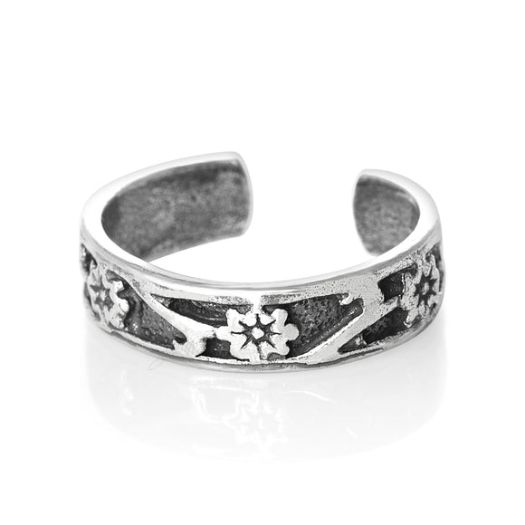 TR-1640 Flower Toe Ring | Teeda