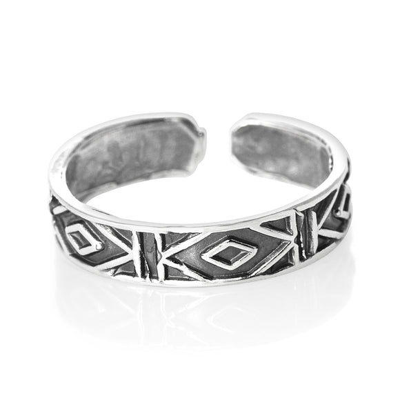 TR-1800 Diamonds Toe Ring | Teeda