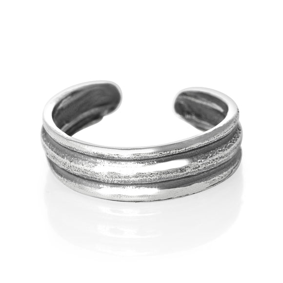 TR-1880 Two Groove Toe Ring | Teeda
