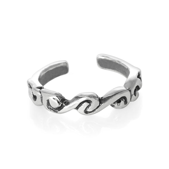 TR-2000 Waves Toe Ring | Teeda