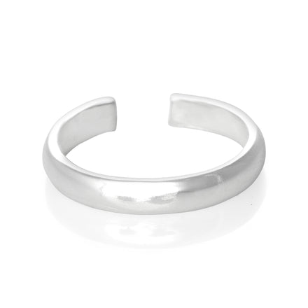 TR-2040 Wide Plain Band Toe Ring | Teeda