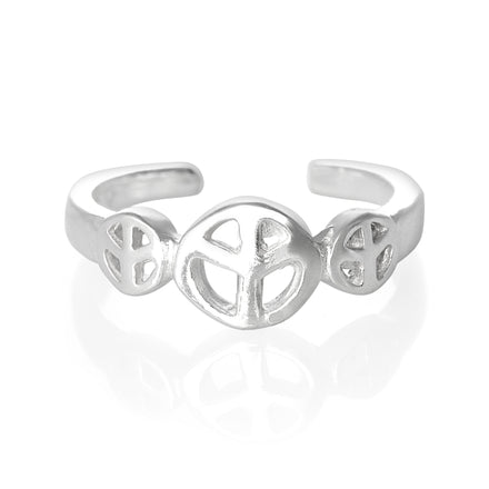 TR-2090 Peace Sign Symbol Toe Ring | Teeda