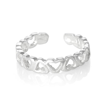 TR-2100 Open Hearts Toe Ring | Teeda