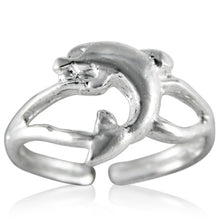TR-2180 Leaping Dolphin Toe Ring | Teeda