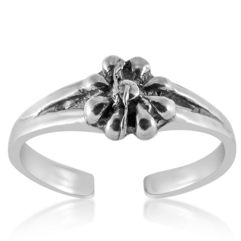 TR-2250 Flower Toe Ring | Teeda