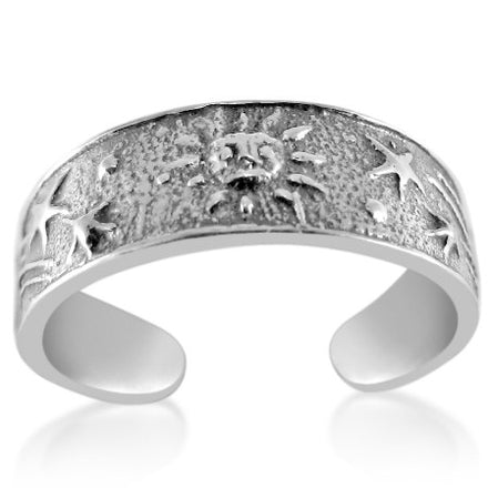 TR-2290 Sun and Shooting Stars Toe Ring | Teeda