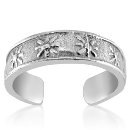 TR-2300 Row of Stars Toe Ring | Teeda
