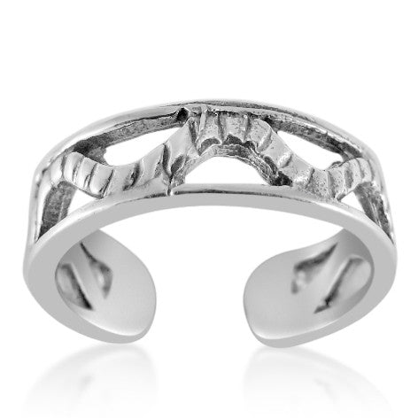 TR-2450 Channel Zig Zag Toe Ring | Teeda