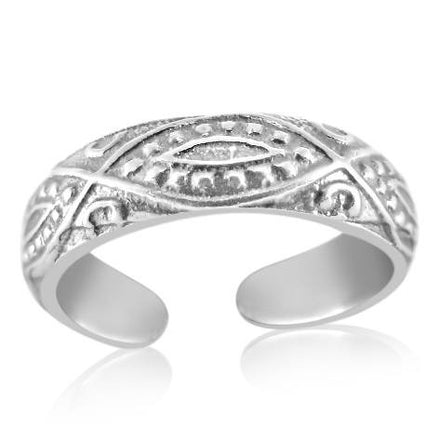 TR-2480 Diamond Paisley Toe Ring | Teeda