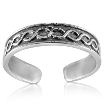 TR-2560 Twist Braid Toe Ring | Teeda