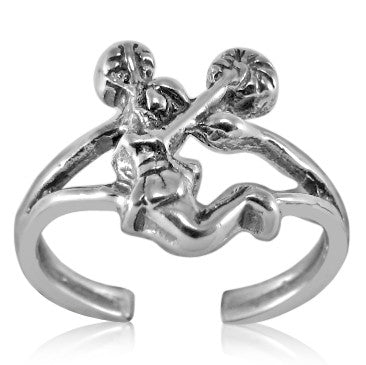 TR-2660 Pom Poms Cheerleader Toe Ring | Teeda