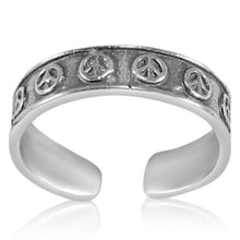 TR-2670 Peace Signs Toe Ring | Teeda