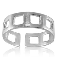 TR-2690 Square Holes Toe Ring | Teeda