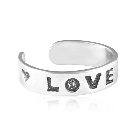 TR-3010 Love and Heart Toe Ring | Teeda