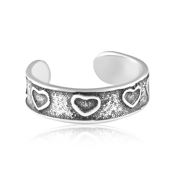 TR-3017 Hearts Toe Ring | Teeda