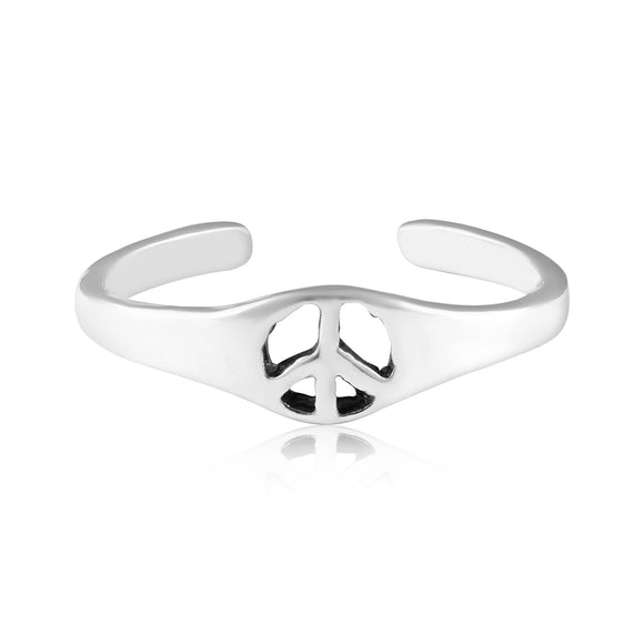 TR-3021 Peace Sign Toe Ring | Teeda