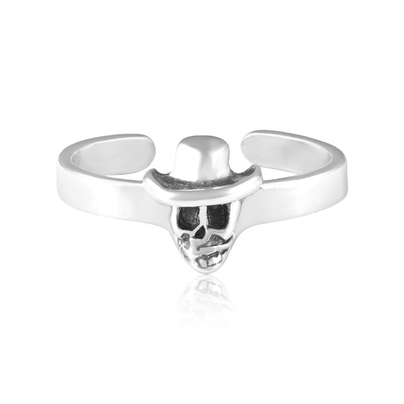 TR-3029 Skull Hat Toe Ring | Teeda