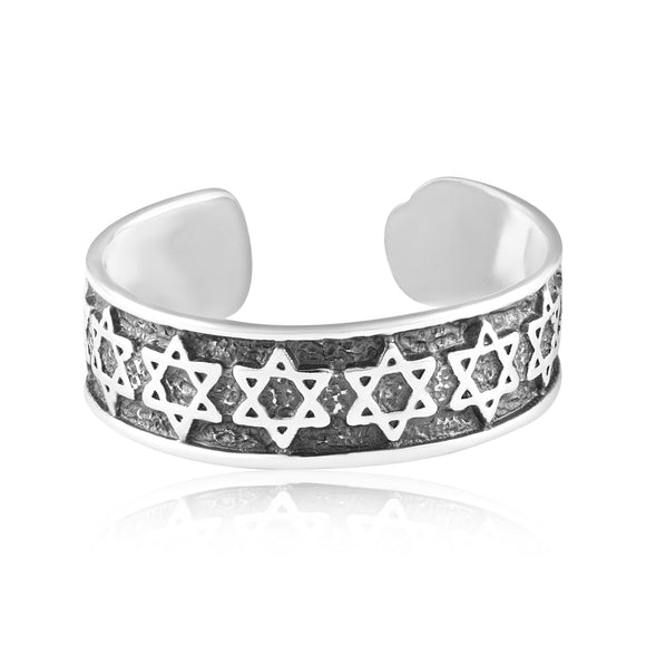 TR-3037 Star of David Jewish Symbol Toe Ring | Teeda