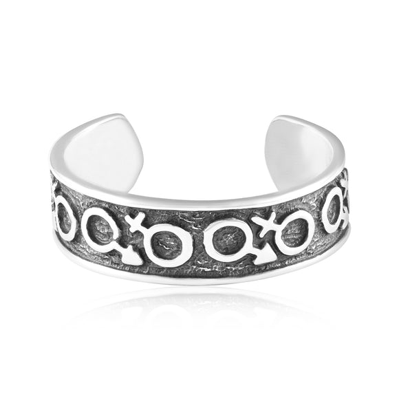 TR-3041 Gender Symbol Toe Ring | Teeda