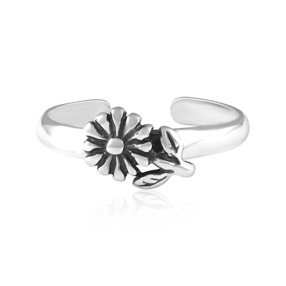 TR-3058 Flower Toe Ring | Teeda