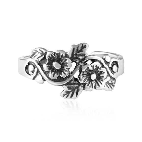 TR-3059 Flowers Toe Ring | Teeda