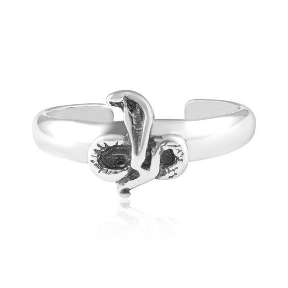 TR-3068 King Cobra Snake Toe Ring | Teeda