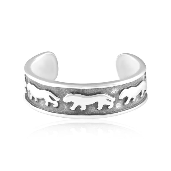 TR-3072 Panther Toe Ring | Teeda