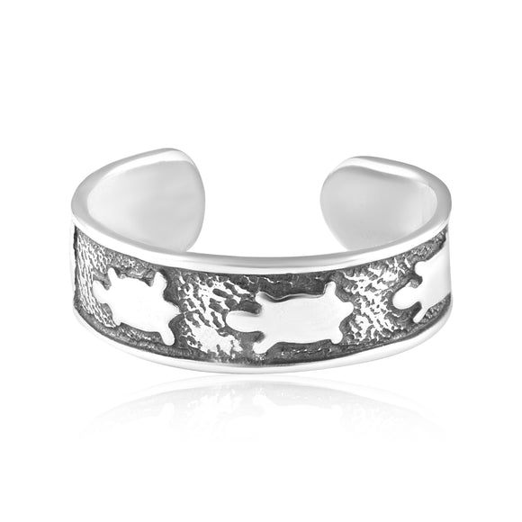 TR-3076 Turtles Toe Ring | Teeda