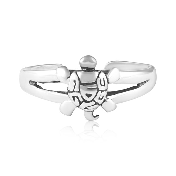 TR-3077 Turtle Toe Ring | Teeda
