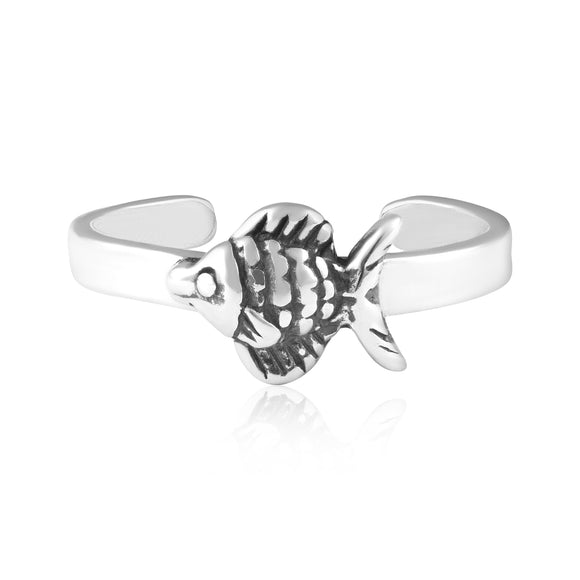 TR-3081 Fish Toe Ring | Teeda