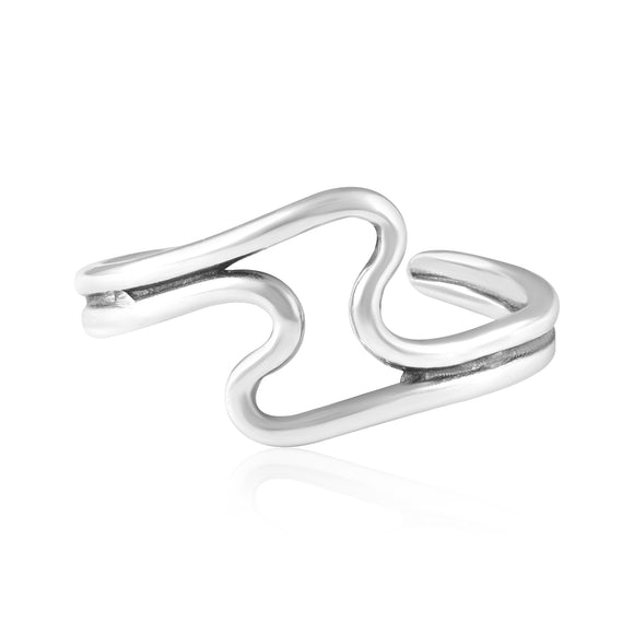 TR-3083 Wave Toe Ring | Teeda