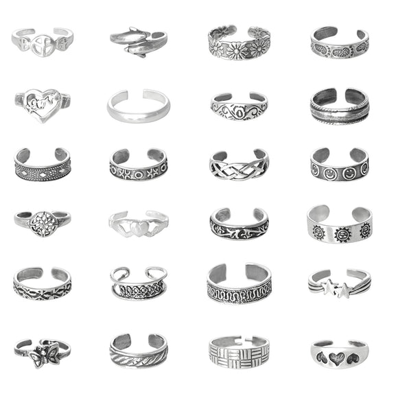 TR-A072 Toe Ring Assortment 72 Pieces | Teeda