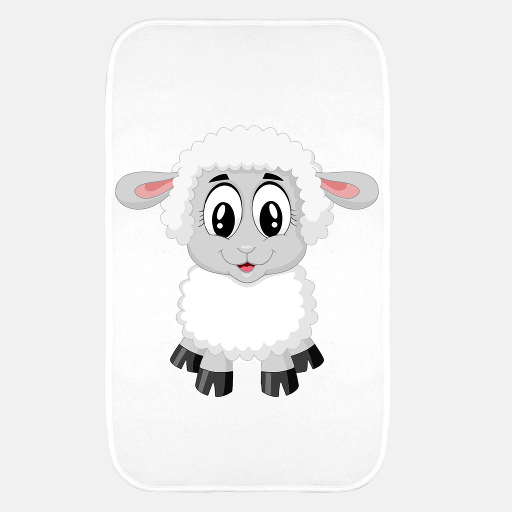 BABY BURP CLOTH WITH LAMB