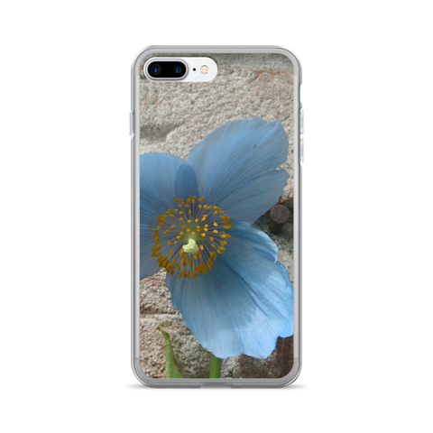BLUE FLOWER iPHONE CELL CASE