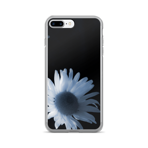 BLACK AND WHITE DAISY iPHONE CELL CASE