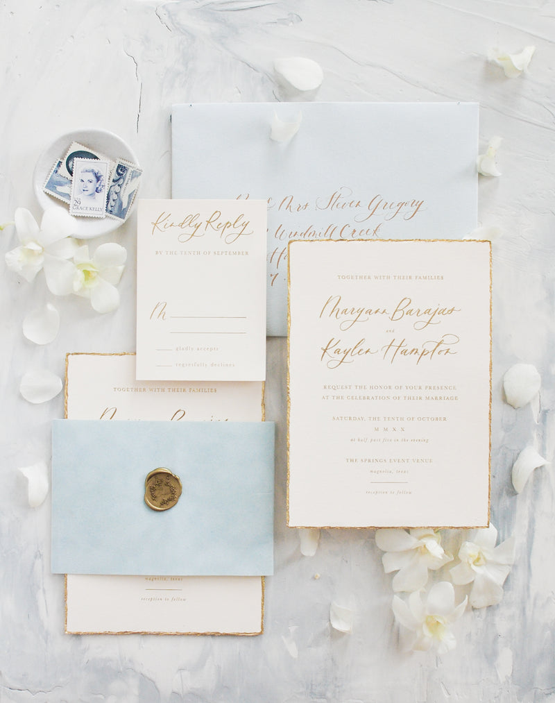 Gilded - Two Piece Invitation Suite